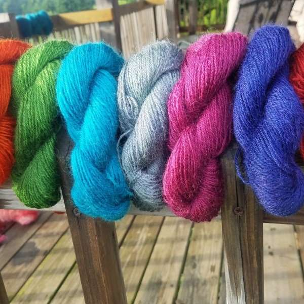 Cloverworks Farm - wool yarn - Albany, VT