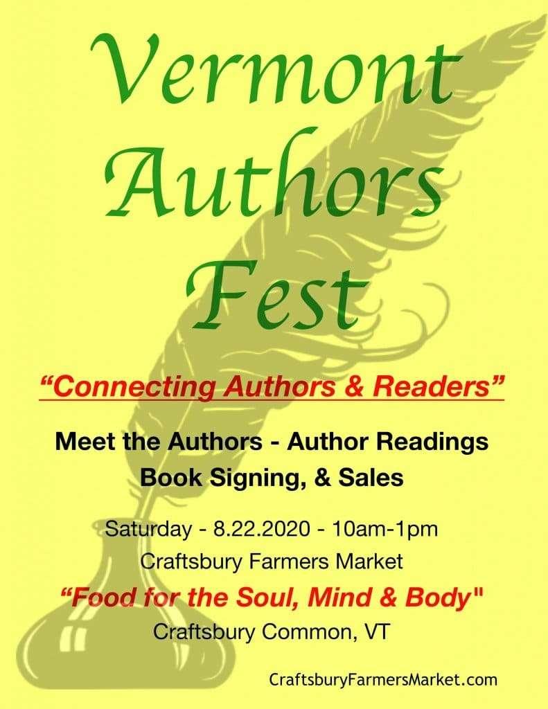 Vermont Authors Fest - Craftsbury Farmers Market - Craftsbury Common VT