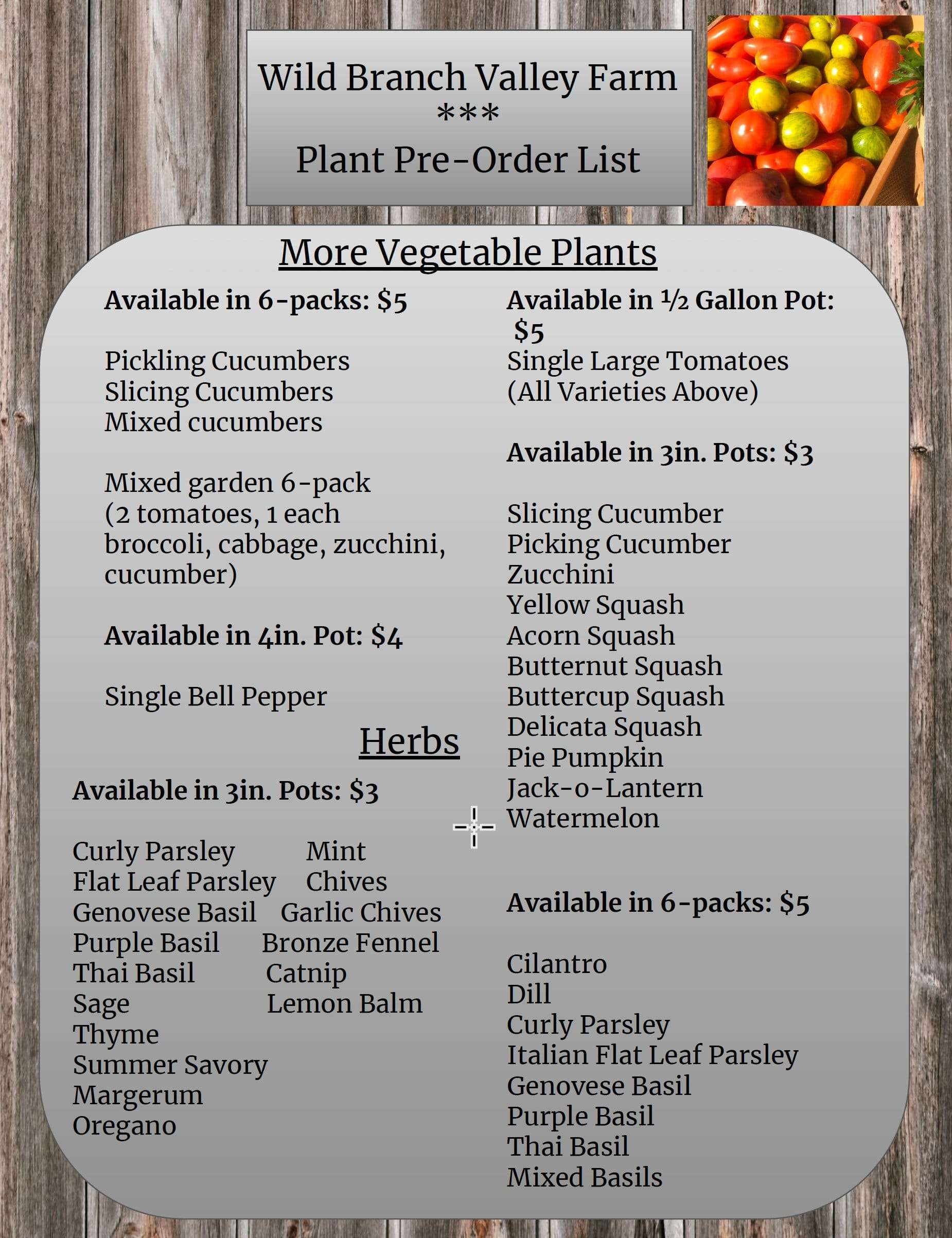 Flowers, Vegetables, Mushrooms, Herbs - Wild Branch Valley Farm - Craftsbury Vermont
