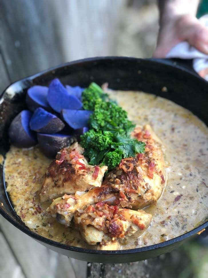 poulet a la moutarde - Davey Gourmet Farm